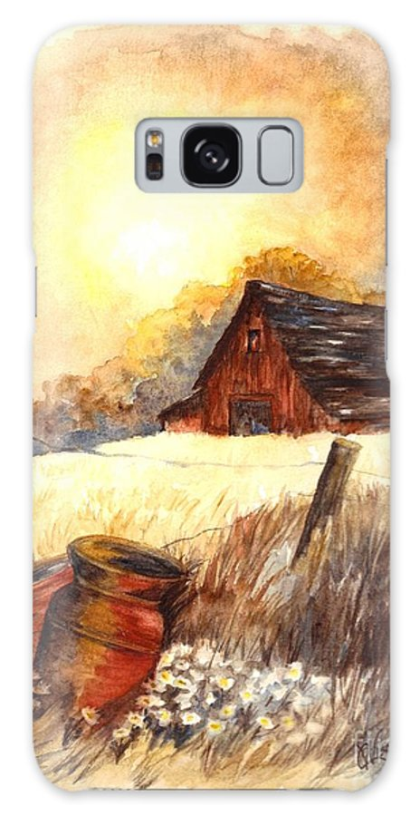 Greeting Cards Galaxy S8 Case featuring the painting Autumn On The Farm by Carol Wisniewski
