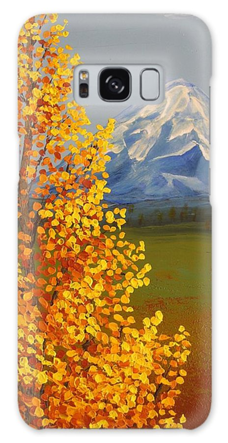 Mt. Shasta Galaxy S8 Case featuring the painting Autumn At Mt Shasta by Wanda Pepin