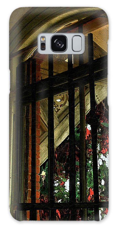 Window Galaxy S8 Case featuring the painting Autumn At The Old Sanitarium by RC DeWinter