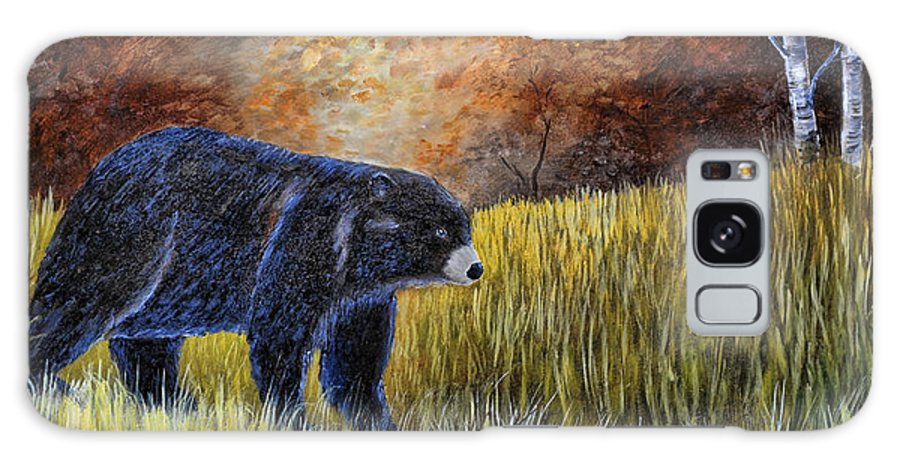 Kenny Francis Galaxy S8 Case featuring the painting Autumn Black Bear by Kenny Francis