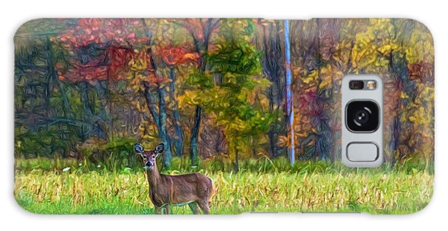 Steve Harrington Galaxy S8 Case featuring the photograph Autumn Doe - Paint by Steve Harrington