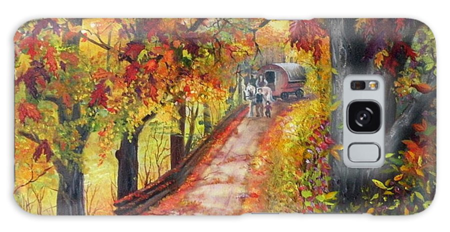 Scenery Galaxy Case featuring the painting Autumn Dreams by Lora Duguay