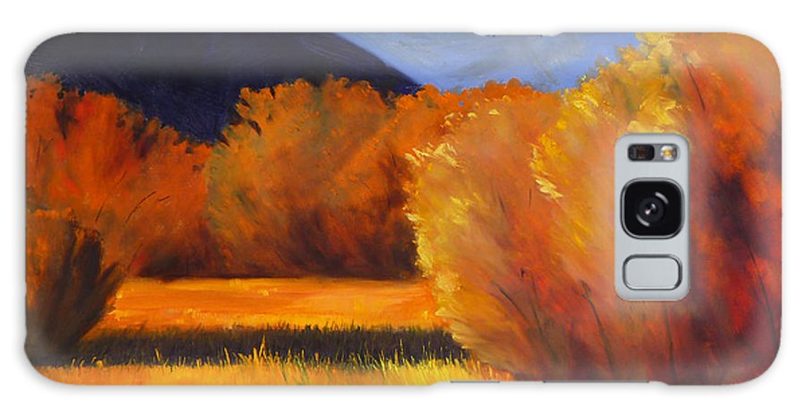 Autumn Galaxy S8 Case featuring the painting Autumn Field by Nancy Merkle