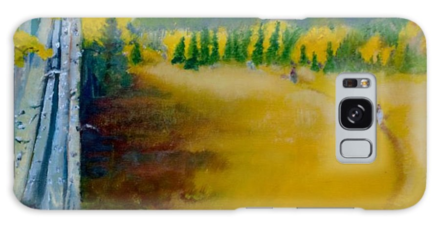 This 20x24 Oil On Canvas Landscape Of The Fall Galaxy S8 Case featuring the painting Autumn Glory by David Morton
