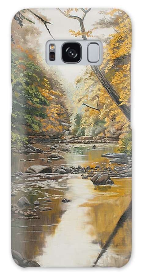 Trees Galaxy S8 Case featuring the painting Autumn Gold by Kenneth Young