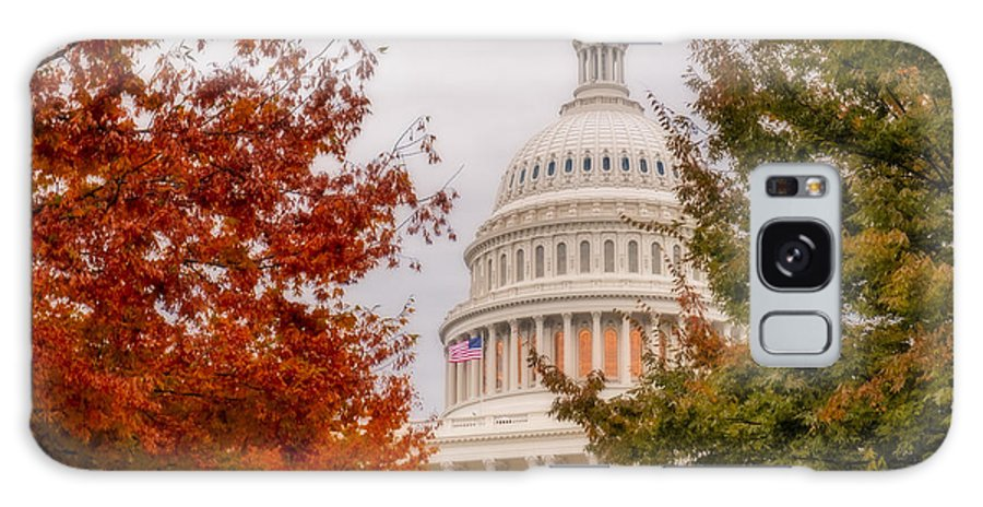 Us Capitol Galaxy S8 Case featuring the photograph Autumn In The Us Capitol by Susan Candelario