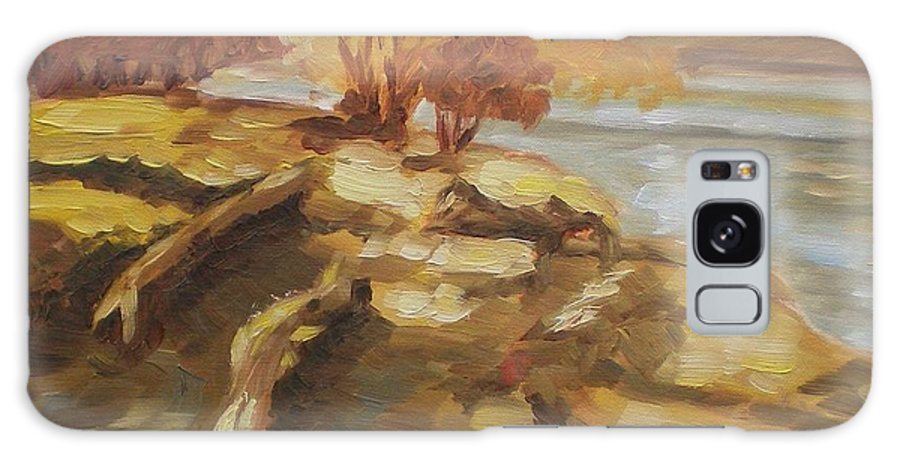 Landscape Galaxy S8 Case featuring the painting Autumn Light2 by Elena Sokolova