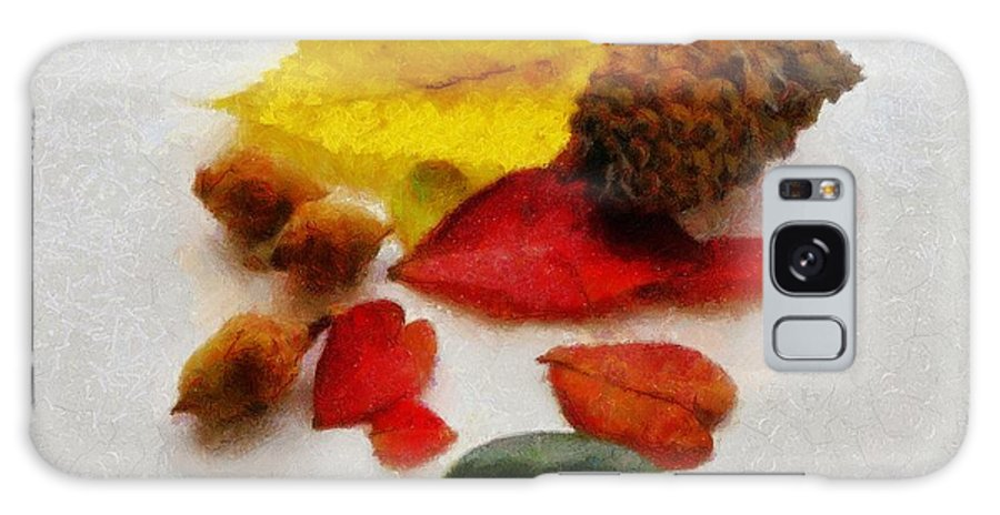 Acorn Galaxy S8 Case featuring the painting Autumn Medley by Jeffrey Kolker
