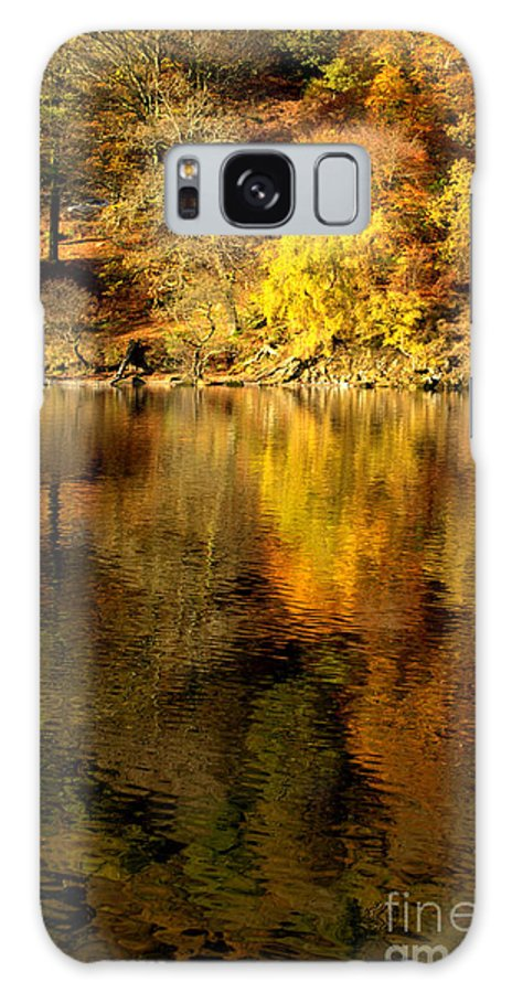 Golds..greens.brown Galaxy S8 Case featuring the photograph Autumn On Ullswater by Linsey Williams