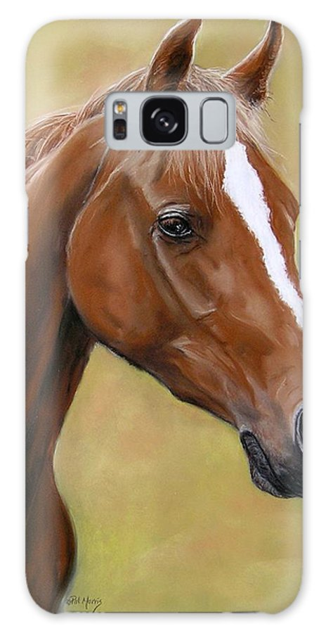 Horse Galaxy S8 Case featuring the pastel Autumn by Pat Morris