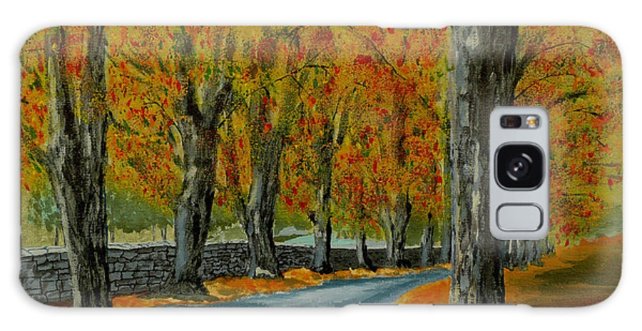 Autumn Galaxy S8 Case featuring the painting Autumn Pathway by Anthony Dunphy