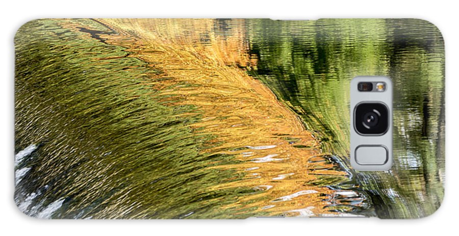 Fall Galaxy S8 Case featuring the photograph Autumn Reflections -the South Natick Dam by Ilene Hoffman