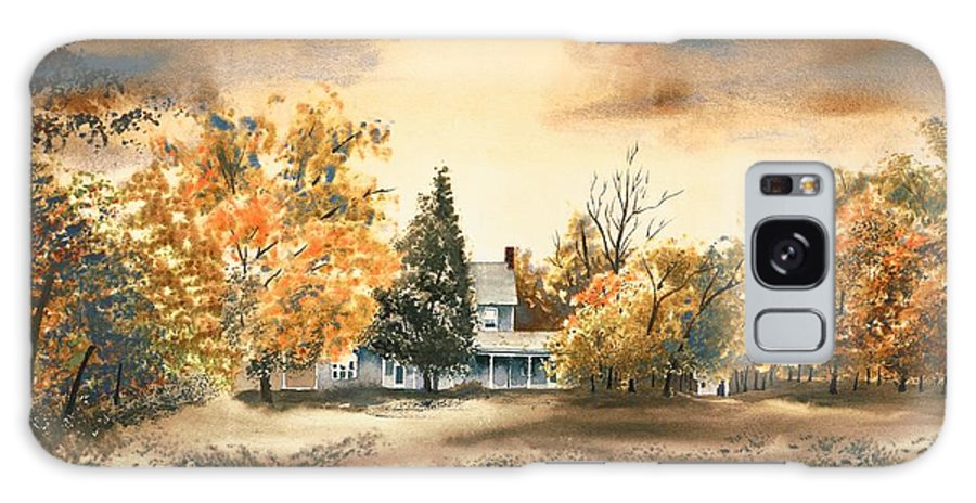 Autumn Sky No W103 Galaxy S8 Case featuring the painting Autumn Sky No W103 by Kip DeVore