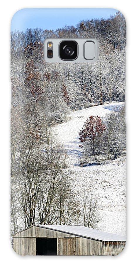 Snow Galaxy S8 Case featuring the photograph Autumn Snow West Virginia by Thomas R Fletcher