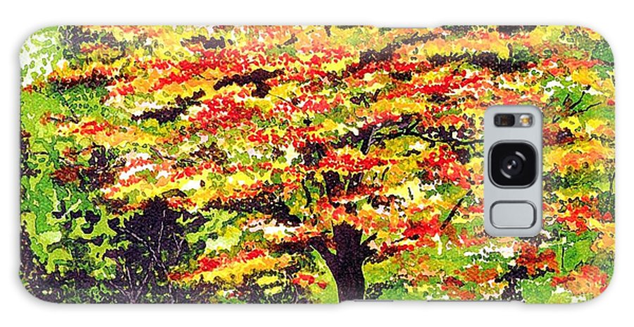 Fine Art Galaxy S8 Case featuring the painting Autumn Splendor by Patricia Griffin Brett