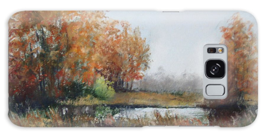 Autumn Landscape Focusing On The Warm Golds And A Touch Of Green. Galaxy S8 Case featuring the painting Autumn Study 1 by Paula Wild