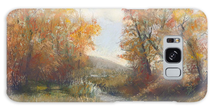 Landscape Featuring Autmn Golds Galaxy S8 Case featuring the painting Autumn Study 3 by Paula Wild