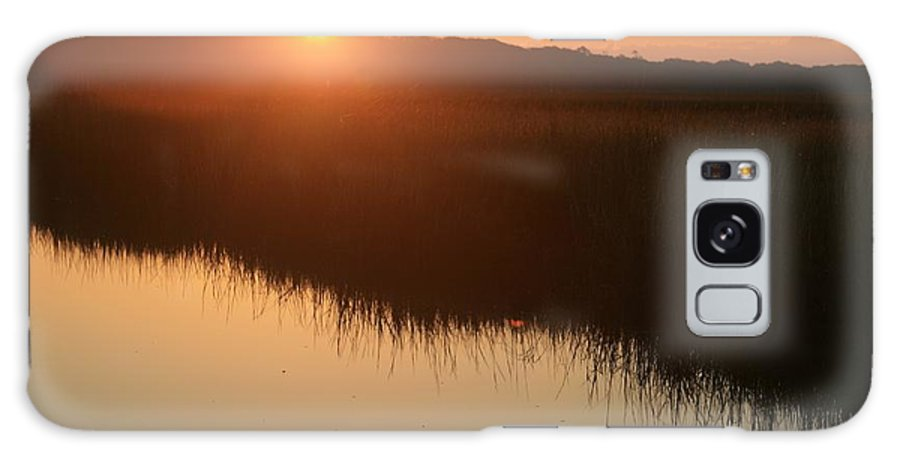 Sunrise Galaxy S8 Case featuring the photograph Autumn Sunrise Over The Marsh by Nadine Rippelmeyer