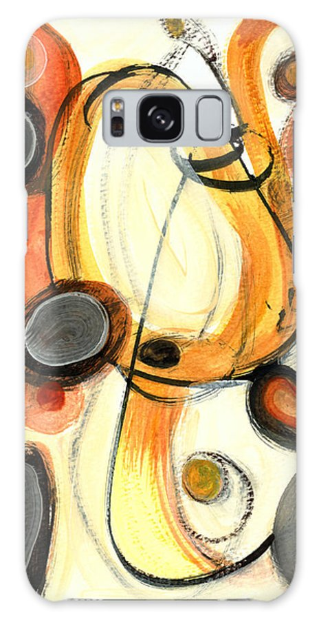 Abstract Art Galaxy S8 Case featuring the painting Autumn Winds by Stephen Lucas
