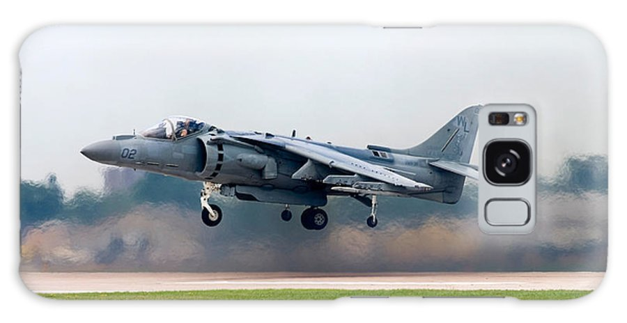 3scape Galaxy Case featuring the photograph Av-8b Harrier by Adam Romanowicz