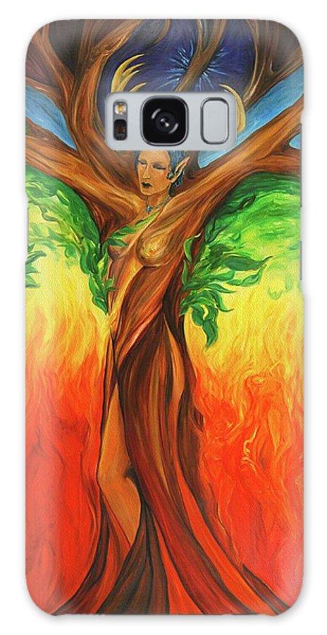 Landscape Galaxy S8 Case featuring the painting Awakening The Chakra Tree by Jennifer Christenson