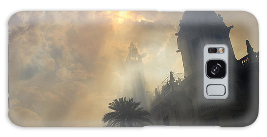 Fallas Galaxy S8 Case featuring the photograph Ayuntamiento Valencia After Mascleta by For Ninety One Days