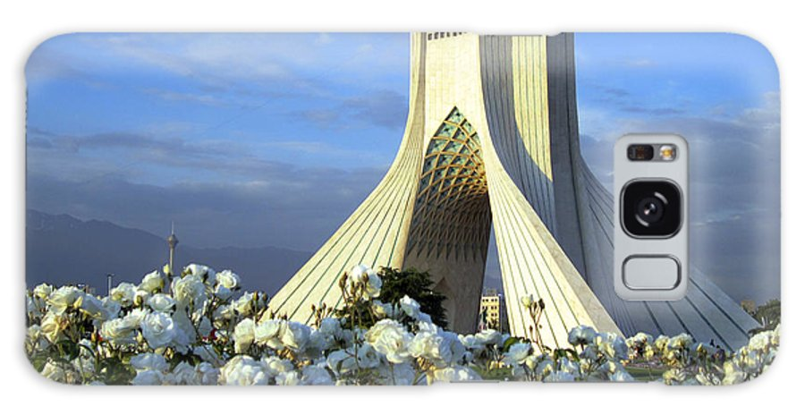 Tranquility Galaxy Case featuring the photograph Azadi Tower In Tehran by Photo By David Stanley