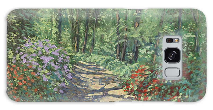 Garden Landscape Paintings Galaxy Case featuring the painting Azalea Trails by David Zimmerman