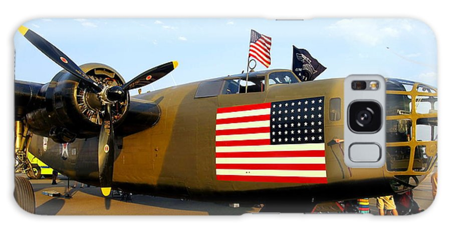 Aircraft Galaxy S8 Case featuring the photograph B-24 Bomber - Diamond Lil by Amy McDaniel