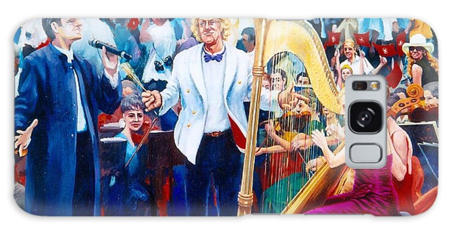 Active Galaxy S8 Case featuring the painting B07. The Singer And Conductor by Les Melton