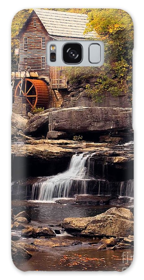 Fall Galaxy S8 Case featuring the photograph Babcock Grist Mill And Falls by Jerry Fornarotto