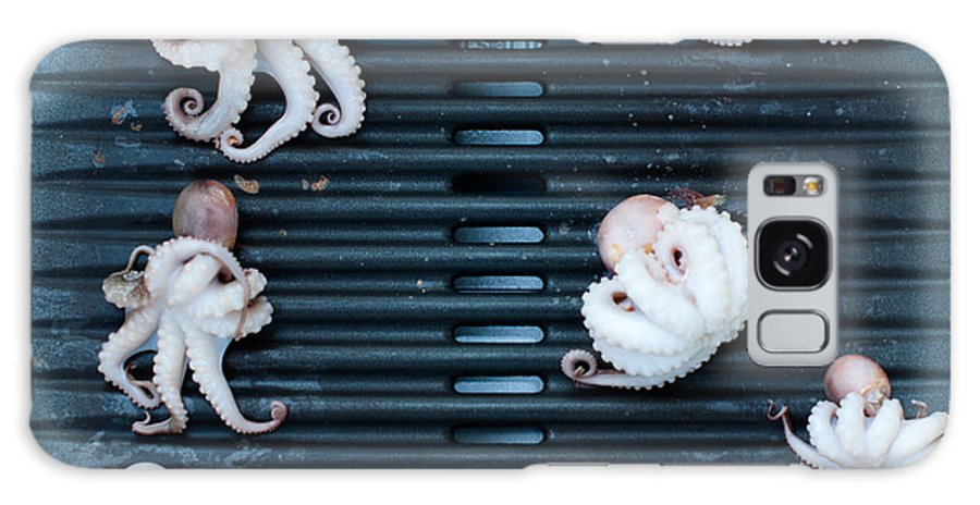 Moscardini Galaxy S8 Case featuring the photograph Baby Octopus - Moscardini - On Bbq by Frank Gaertner