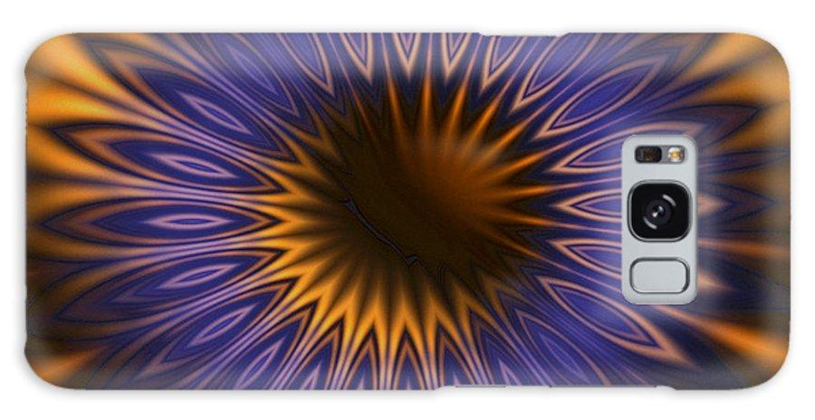 Abstract Galaxy S8 Case featuring the digital art Bachelor Button Mandala by Judi Suni Hall