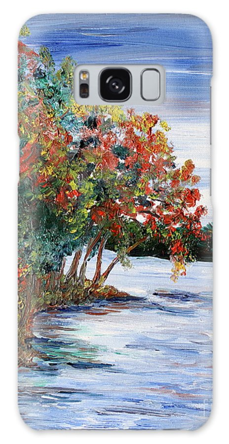 Fall Galaxy S8 Case featuring the painting Back Waters by Linda Steine