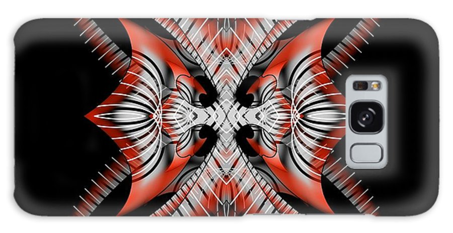 Abstract Galaxy S8 Case featuring the digital art Bad Decisions New Start by Brian Johnson