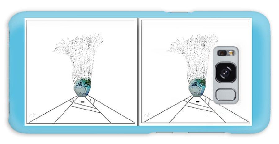 Hair Galaxy S8 Case featuring the digital art Bad Hair Day by Ann Calvo