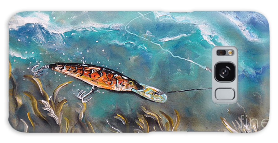 Fishing Galaxy S8 Case featuring the painting Bagley's Deep Dive by Chad Berglund