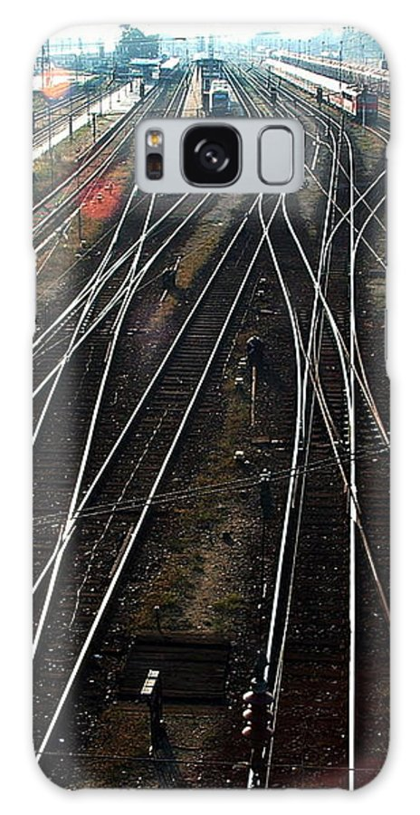 Train Station Galaxy S8 Case featuring the photograph Bahnhof Cottbus by Marc Philippe Joly