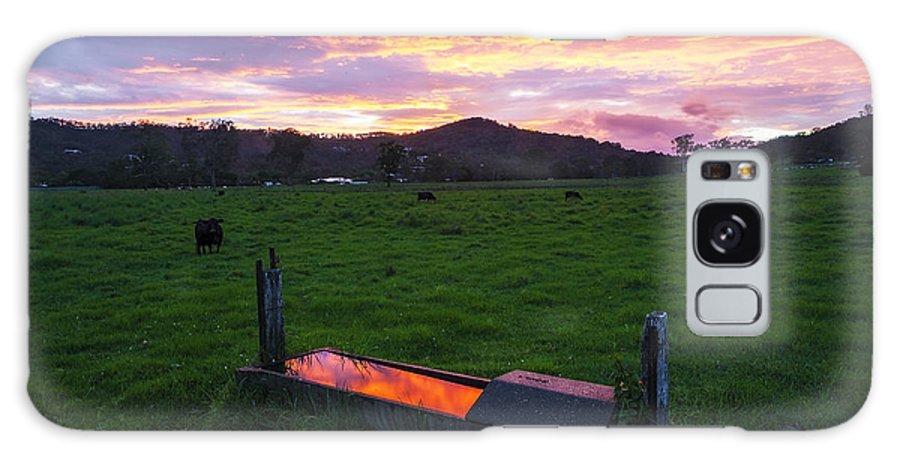 Farm Galaxy S8 Case featuring the photograph Bahrs Scrub Sunset by Gareth Mcguigan
