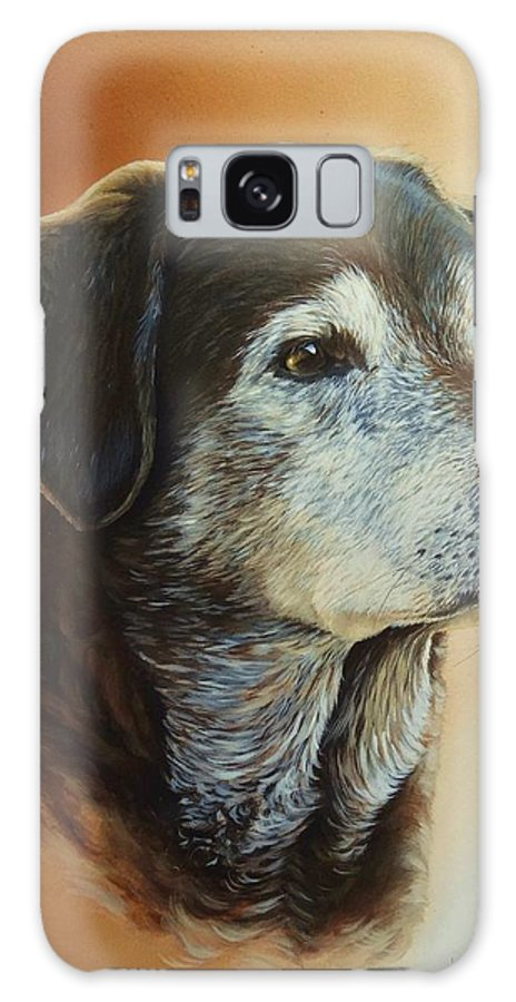 Labrador Galaxy S8 Case featuring the painting Bailey by Julian Wheat
