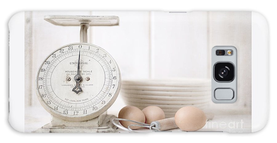 Recipe Galaxy S8 Case featuring the photograph Baking Time Vintage Kitchen Scale by Edward Fielding