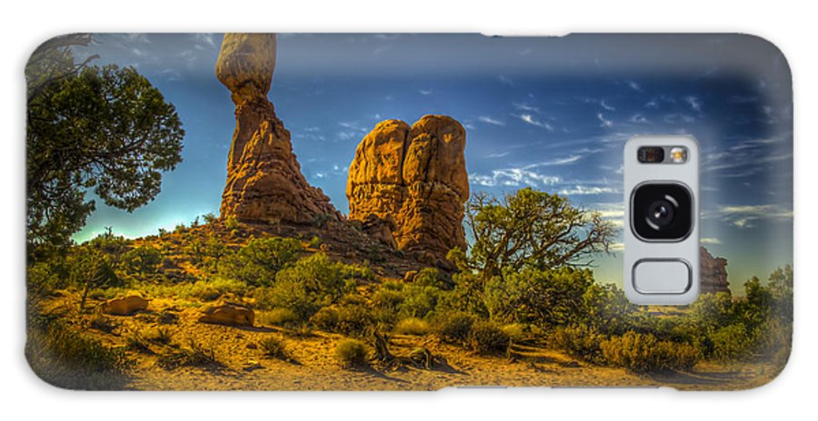 Arches National Park Galaxy S8 Case featuring the photograph Balanced Rock by Fred Adsit