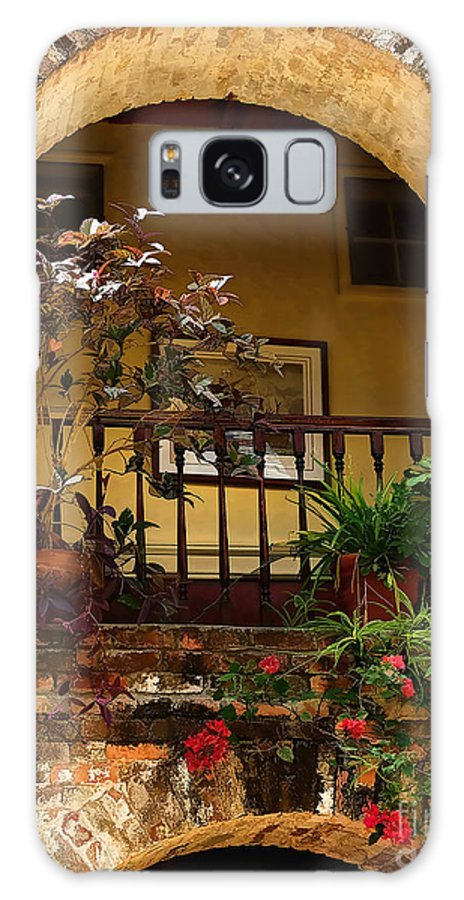 St Lucia Galaxy S8 Case featuring the photograph Balcony St Lucia by Tom Prendergast