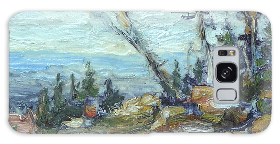 Landscape Painting - Original Oil Painting Artwork; Scenic View; Art Of Lynn T Bright; Galaxy S8 Case featuring the painting Bald Mountain Vista by Lynn T Bright