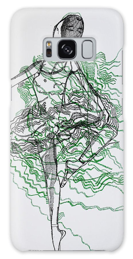 Jesus Galaxy S8 Case featuring the drawing Ballet by Gloria Ssali
