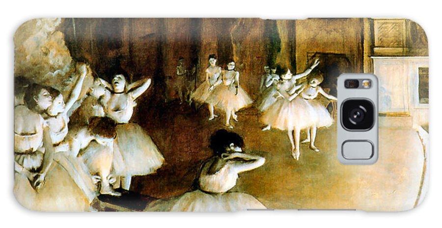Edgar Degas Galaxy S8 Case featuring the digital art Ballet Rehearsal On Stage by Edgar Degas