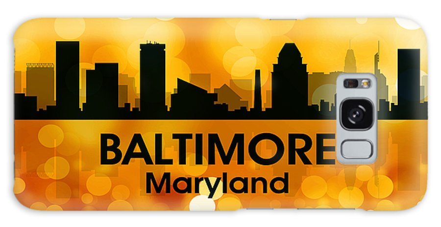 City Silhouette Galaxy S8 Case featuring the digital art Baltimore Md 3 by Angelina Tamez