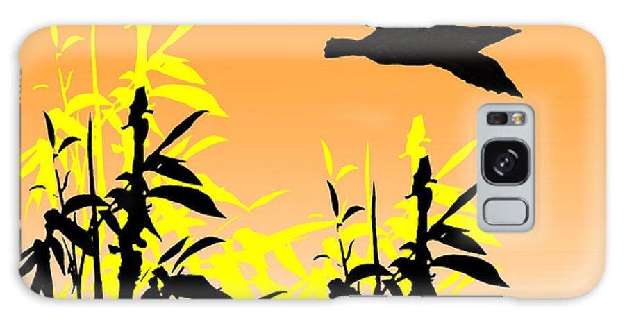 Gimp Galaxy S8 Case featuring the digital art Bamboo Bird by Helen Bowman