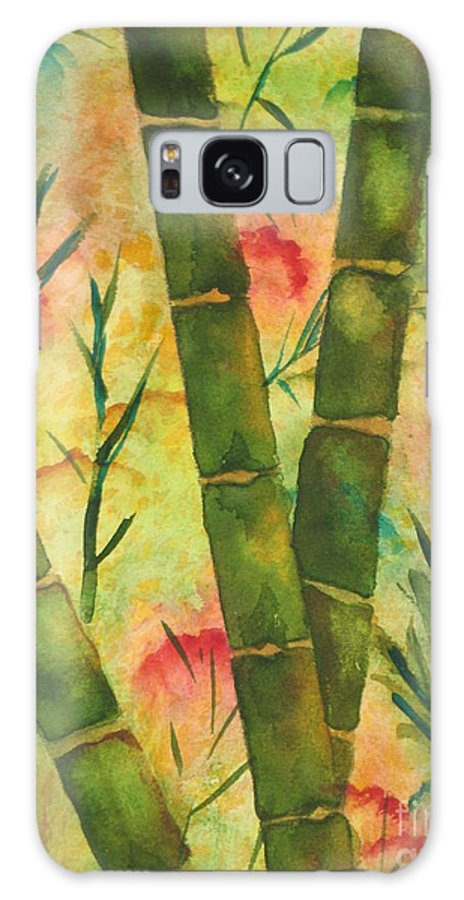 Fine Art Painting Galaxy S8 Case featuring the painting Bamboo Garden by Chrisann Ellis