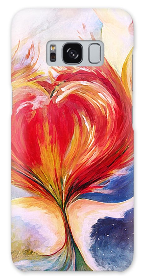 Baptize Me With Holy Fire Galaxy S8 Case featuring the painting Baptize Me With Holy Fire by Jennifer Page